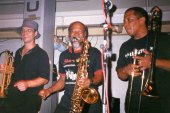 Brass line up,Mark Berney, Cedric Brooks, Will Clark